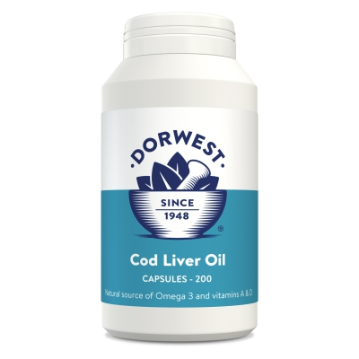 Cod Liver Oil Capsules For Dogs And Cats - 200 Capsules