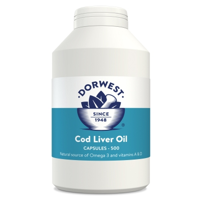 Cod Liver Oil Capsules For Dogs And Cats - 500 Capsules