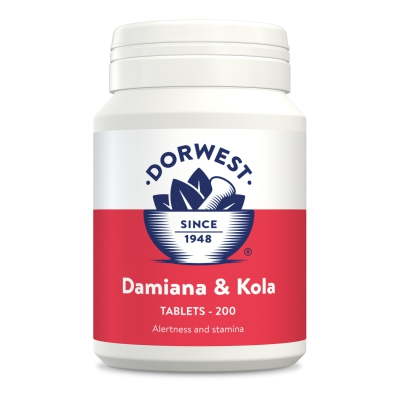 Damiana & Kola Tablets For Dogs And Cats - 200 Tablets
