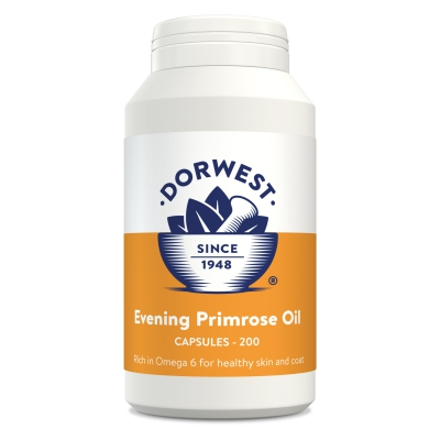 Evening Primrose Oil Capsules For Dogs And Cats - 200 Capsules