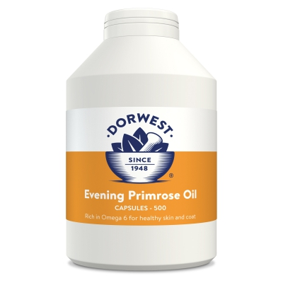 Evening Primrose Oil Capsules For Dogs And Cats - 500 Capsules