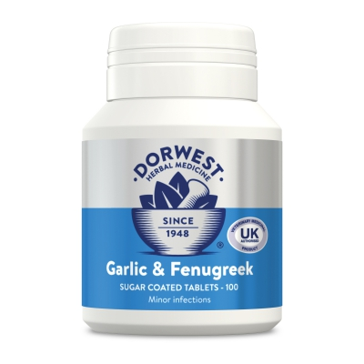 Garlic & Fenugreek Tablets For Dogs And Cats - 100 Tablets