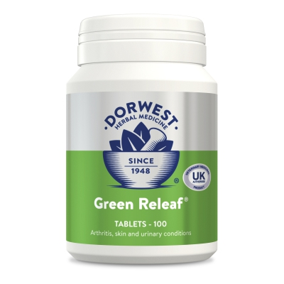 Green Releaf Tablets For Dogs And Cats - 100 Tablets