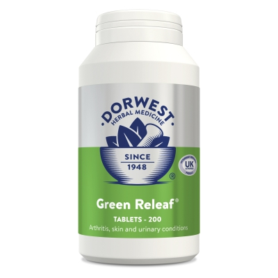 Green Releaf Tablets For Dogs And Cats - 200 Tablets