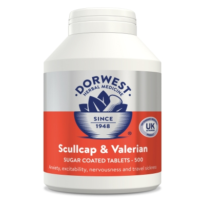 Scullcap & Valerian Tablets For Dogs And Cats - 500 Tablets