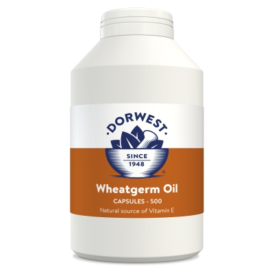 Wheatgerm Oil Capsules For Dogs And Cats - 500 Capsules