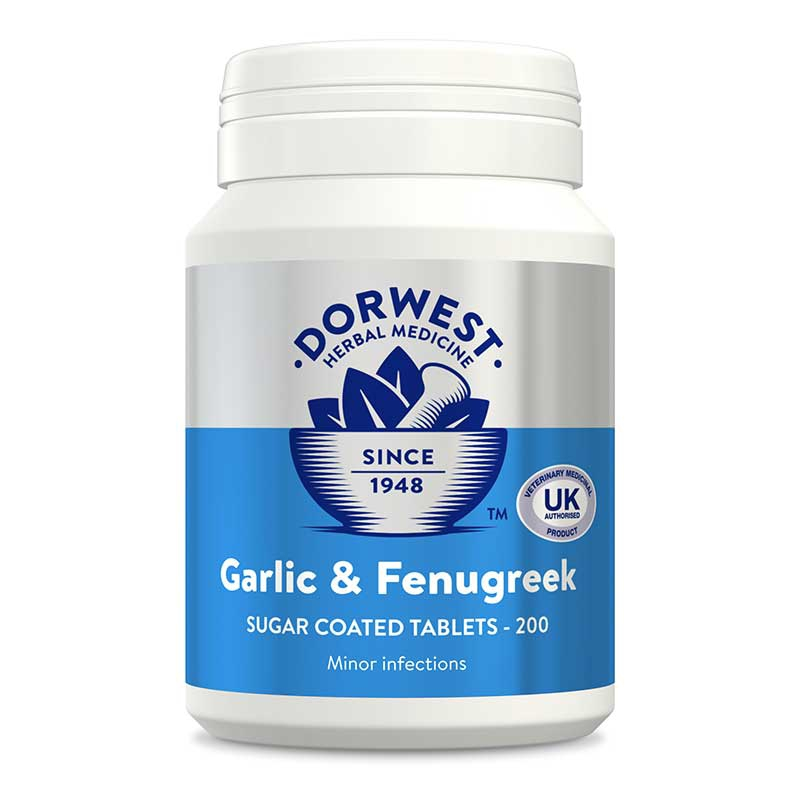 Garlic & Fenugreek Tablets for Dogs and Cats | Dorwest Herbs