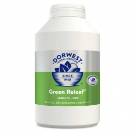 Green Releaf Tablets For Dogs And Cats - 500 Tablets